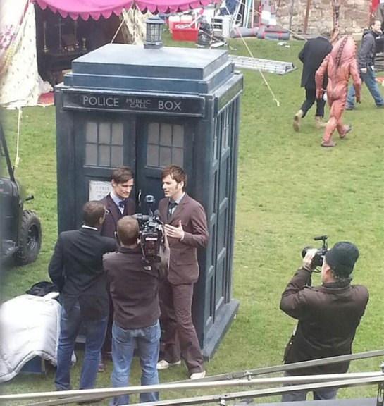 tennant-and-smith-50th-anniversary-filming
