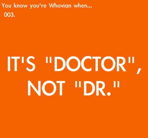Doctor Not Dr